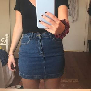 Fitted jean skirt